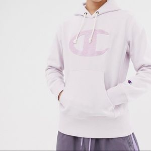 *RARE* Champion Pink Logo Pullover Hoodie Size S